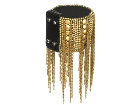 Fiona Paxton gold and black beaded tassle cuff