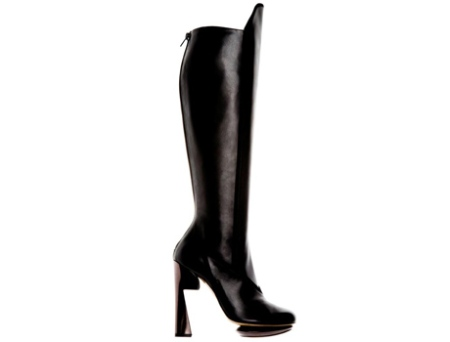 Nicholas Kirkwood black over the knee platform boot