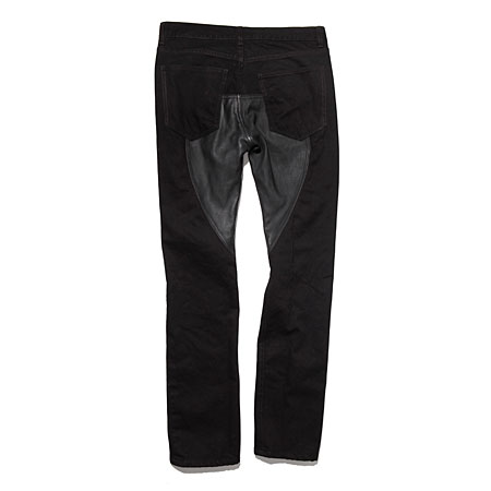Oak mid-slouch jeans with leather insets