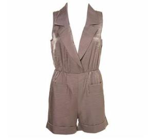 Top Shop Metalic Playsuit