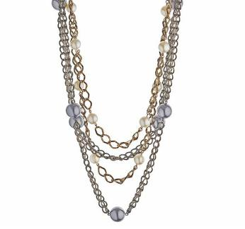 Top Shop Pearl On Chain Necklace