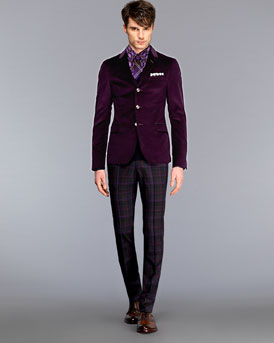 Gucci Coudoury jacket and skinny wool pants NM-27M0_mf