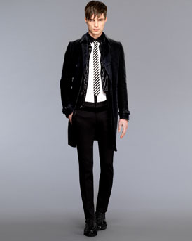 gucci double breasted trench and skinny pant NM-24V7_mf