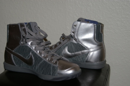 Silver Nike Boots