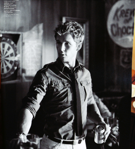 Ryan Kwanten GQ Black and White