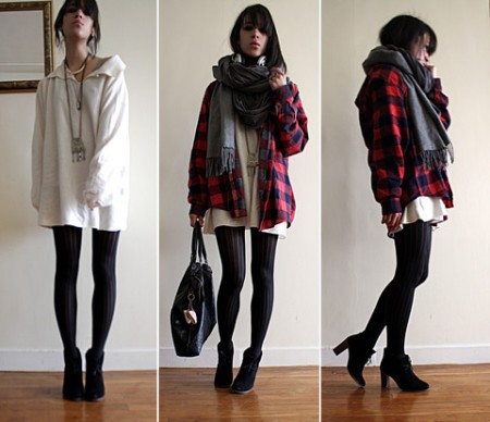 episdoe shirt, oversized sweater zara, wolford tights